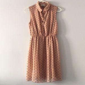 Pink/ black Polkadotted dress